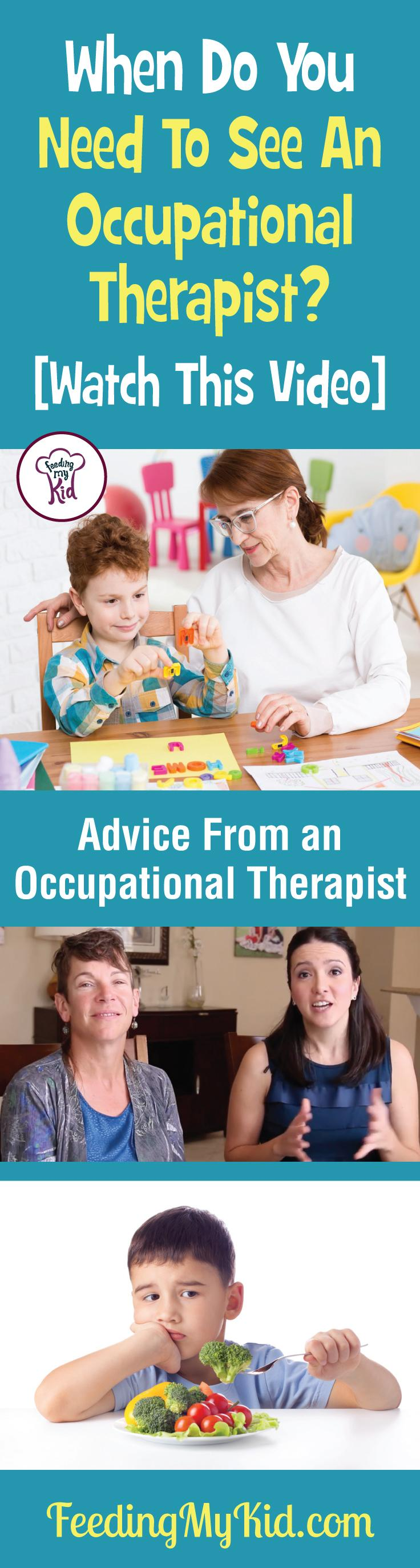 This is a must pin. Learn everything you need to know about occupational therapy for children from an occupational therapist. Feeding My Kid is a filled with all the information you need about how to raise your kids, from healthy tips to nutritious recipes. #FeedingMyKid #OccupationalTherapist #advice #kidshealth