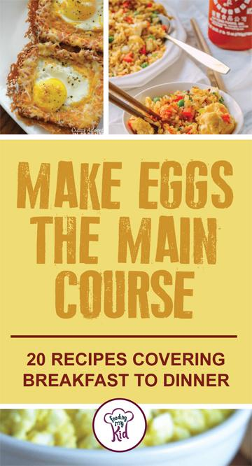 Give these great egg recipes for breakfast, lunch and dinner a try! These egg courses make the perfect meal for any time and any occasion! #FeedingMyKid #eggs #eggrecipes #recipes