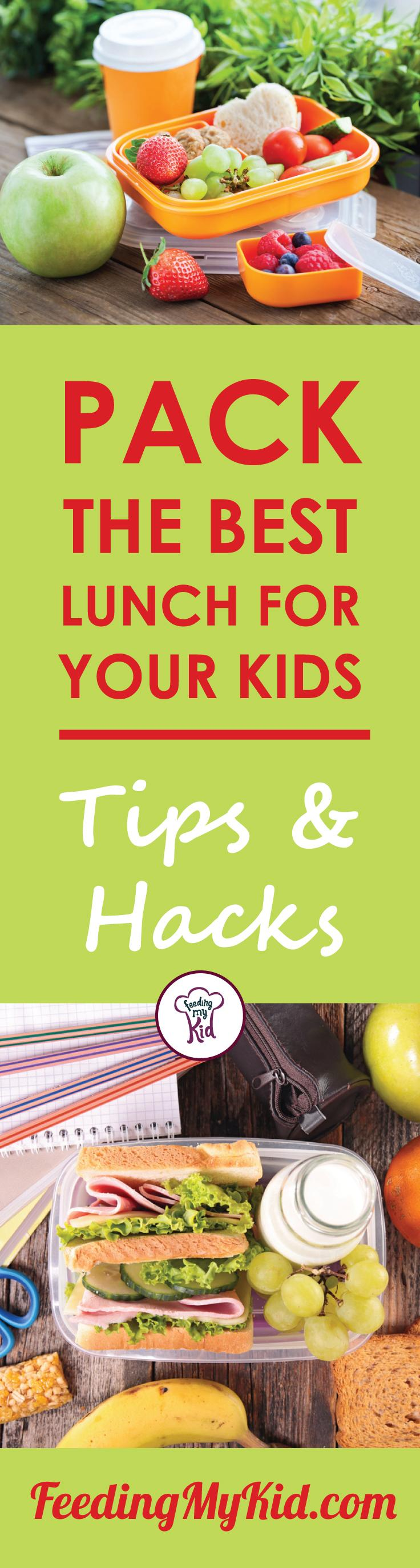 This is a must pin! Check out these amazing lunch box ideas! They'll help you pack your child's lunches. These are great tips! Feeding My Kid is a filled with all the information you need about how to raise your kids, from healthy tips to nutritious recipes. #FeedingMyKid #lunch #lunchboxideas #packlunch