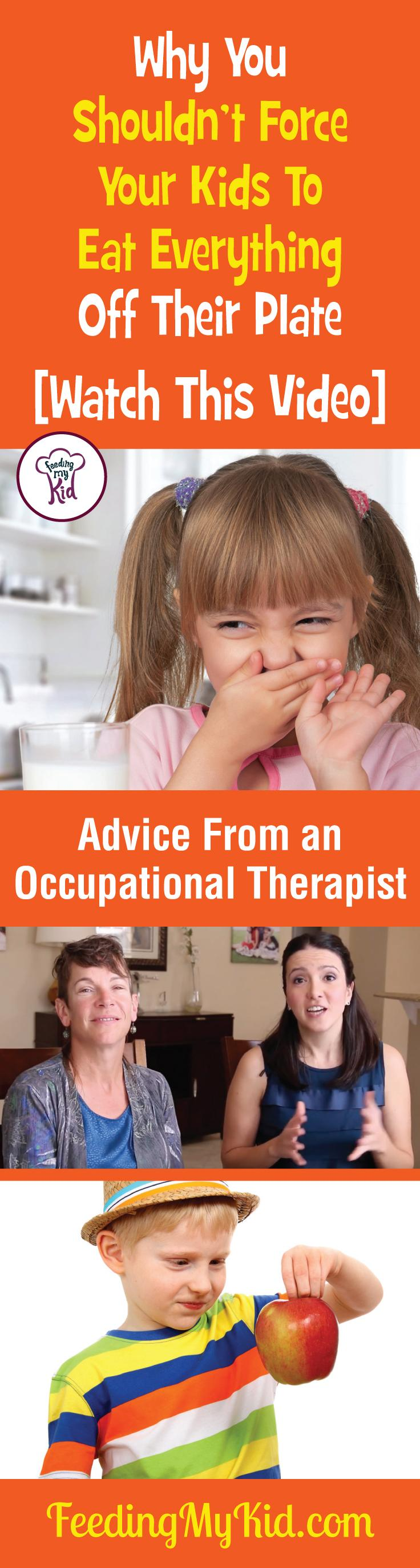Some great parenting tips and advice from an occupational therapist. Find out how to get your kids to eat without forcing them to eat food off their plate. Feeding My Kid is a filled with all the information you need about how to raise your kids, from healthy tips to nutritious recipes. #FeedingMyKid #OccupationalTherapist #advice #kidshealth #parentingtips