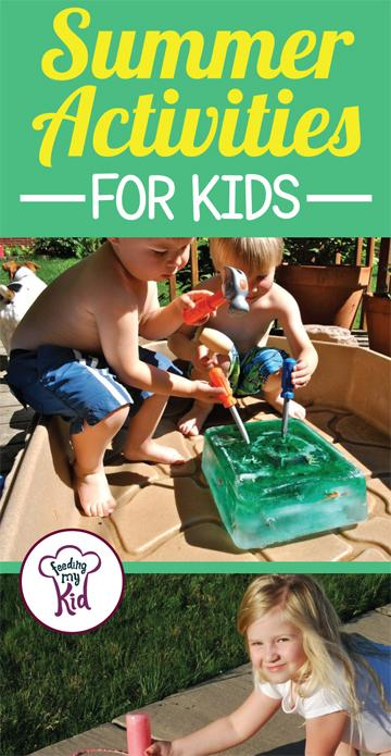 Check out these fun summer activities for kids! They'll make the summer that much more fun! #FeedingMyKid #funactivitiesforkids #summerfun