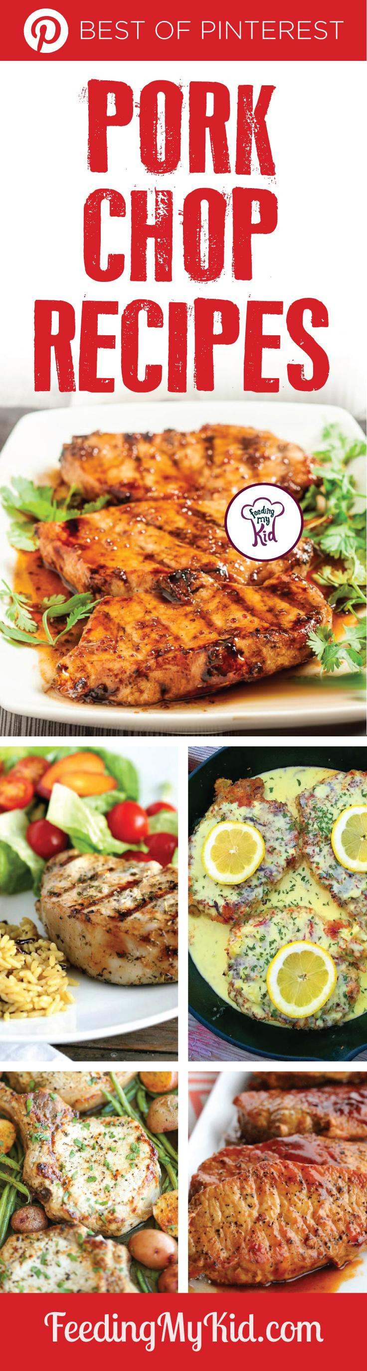 You'll love each one of these tasty pork recipes. Give them a try! Even the pickiest of easters will enjoy these dinner recipes. Feeding My Kid is filled with all the information you need about how to raise your kids, from healthy tips to nutritious recipes. #FeedingMyKid #porkrecipes #recipes #dinner