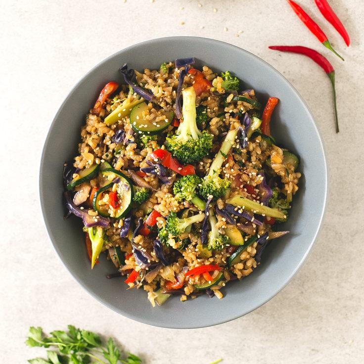 Brown Rice Stir-Fry with Vegetables Recipe