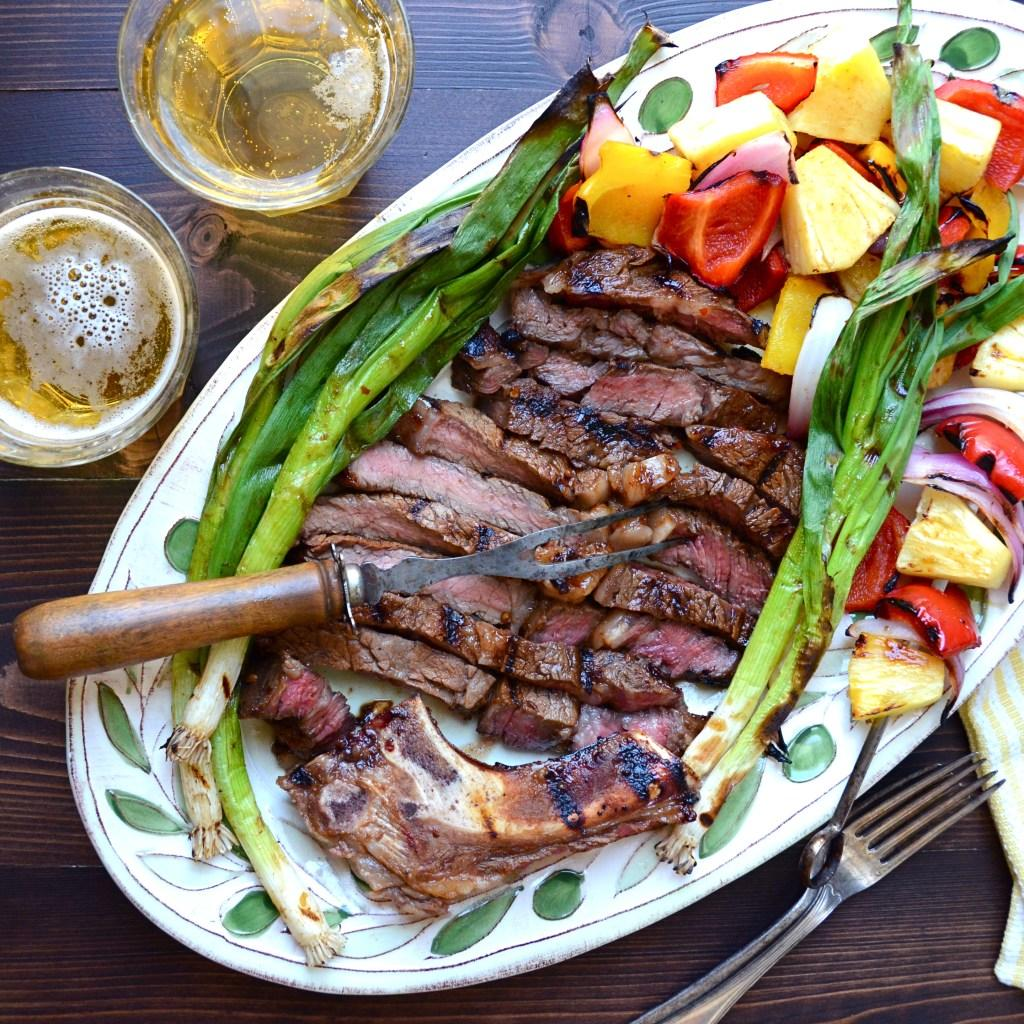 Easy Marinated Rib-Eye And Veg Recipe