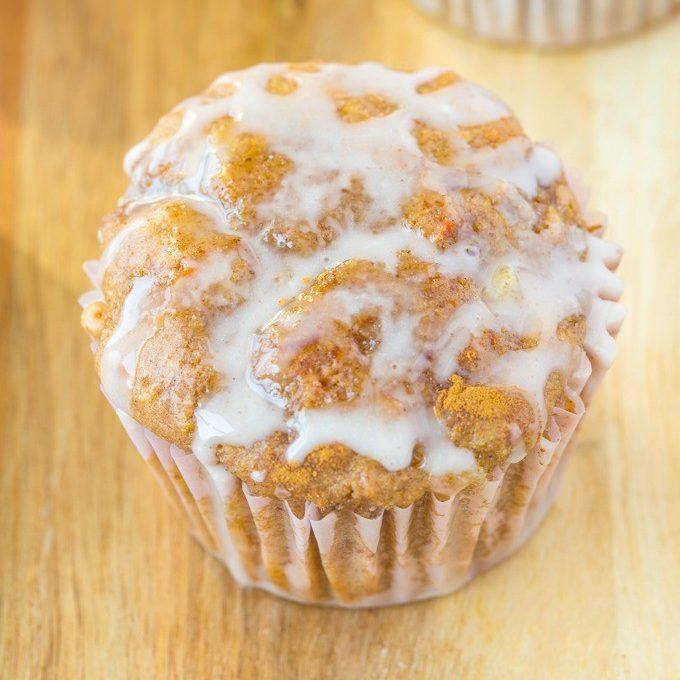 Healthy Flourless Sticky Cinnamon Bun Muffins