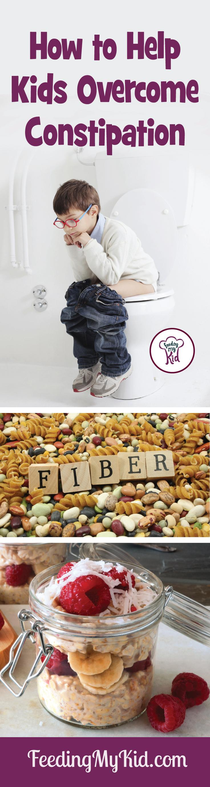 How to help overcome constipation! First, you'll learn the causes of constipation and then we will show you how to solve it. Feeding My Kid is filled with all the information you need about how to raise your kids, from healthy tips to nutritious recipes. #FeedingMyKid #constipation #poop #fiber