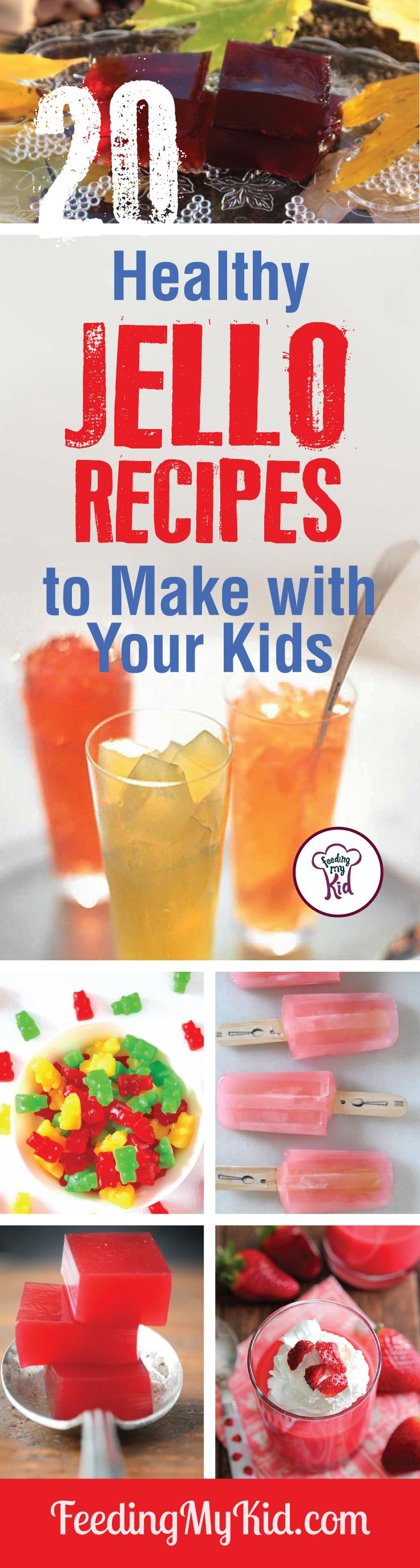 Try these amazing jello recipes for your kids. They're so tasty! You'll love them! Feeding My Kid is filled with all the information you need about how to raise your kids, from healthy tips to nutritious recipes. #FeedingMyKid #jellorecipes #dessert
