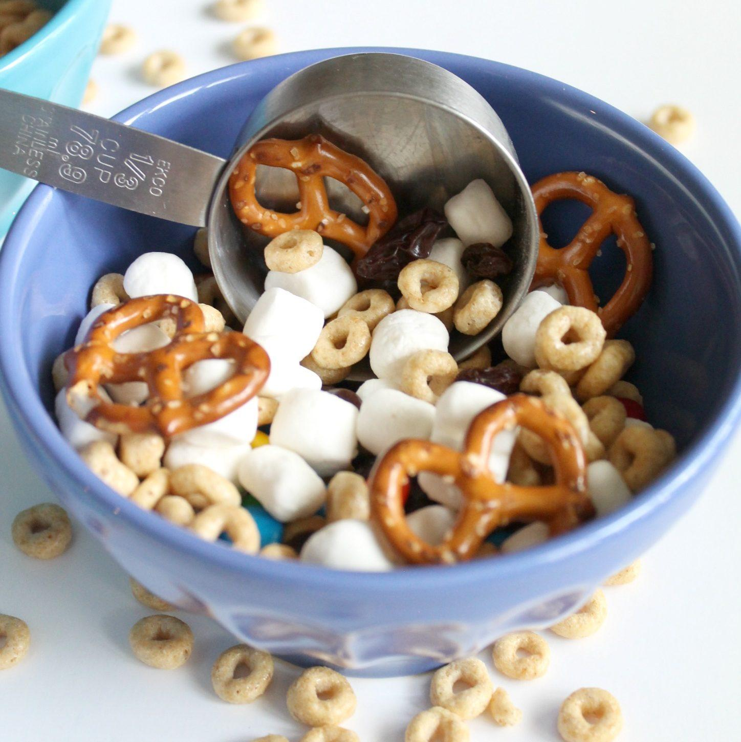 Trail mix. Try these kid-friendly recipes. They are great tasting and fun to make. Get kids in the kitchen by making these recipes together!