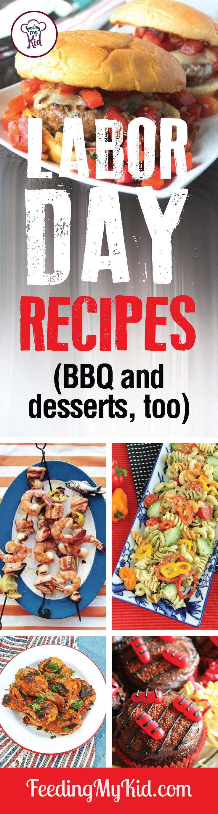 Labor Day is almost here! Time to celebrate! Try these amazing Labor Day recipes that are perfect for the holiday. Feeding My Kid is filled with all the information you need about how to raise your kids, from healthy tips to nutritious recipes. #FeedingMyKid #summerrecipes #LaborDay #BBQ #holidayrecipes