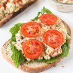 Open-Faced Vegan Chickpea Salad Sandwiches Recipe