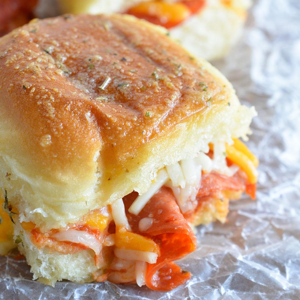 Oven Baked Pepperoni Pizza Sandwiches Recipe