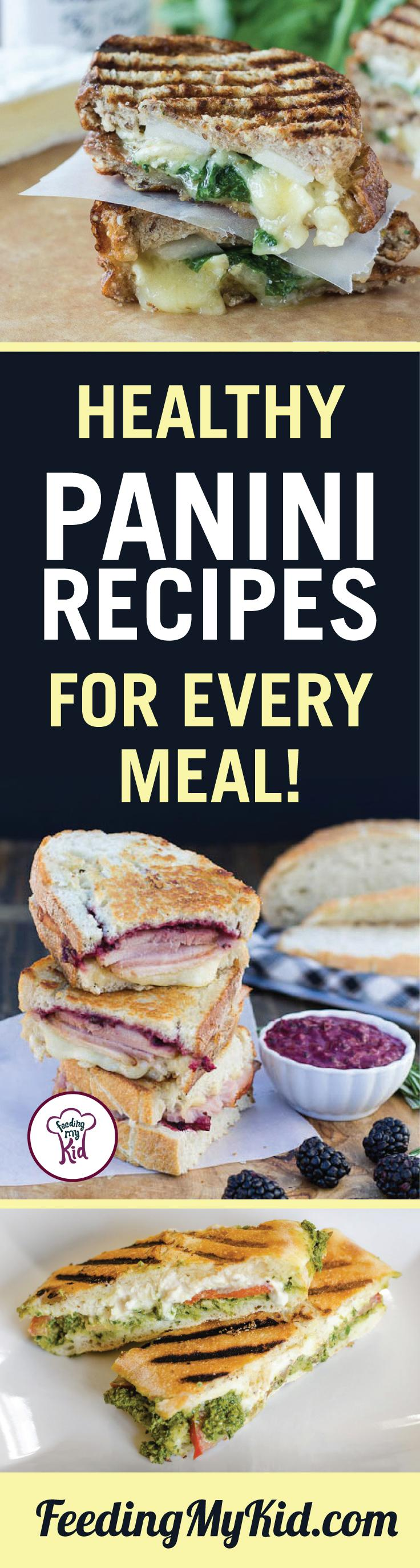 This is a must share! Try these healthy panini recipes. They're great tasting and amazingly delicious. Feeding My Kid is filled with all the information you need about how to raise your kids, from healthy tips to nutritious recipes. #FeedingMyKid #paninirecipes #lunch #dinner #recipes