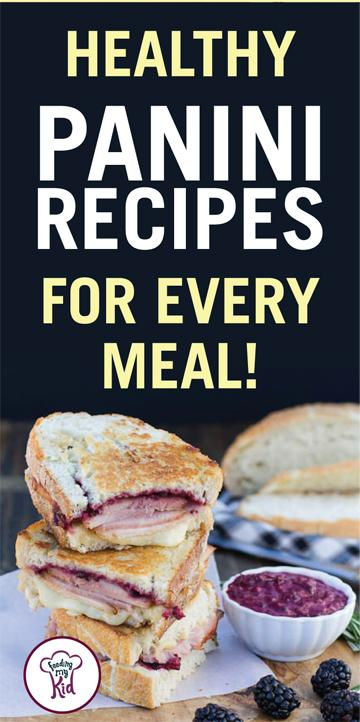 This is a must pin. Try these healthy panini recipes. They're great tasting and amazingly delicious. Feeding My Kid is filled with all the information you need about how to raise your kids, from healthy tips to nutritious recipes. #FeedingMyKid #paninirecipes #lunch #dinner #recipes