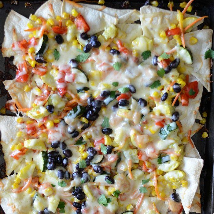 Roasted-Vegetable-Nachos Recipe