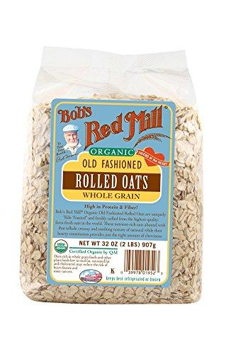 Rolled Oats. Great High Fiber Breakfast Food