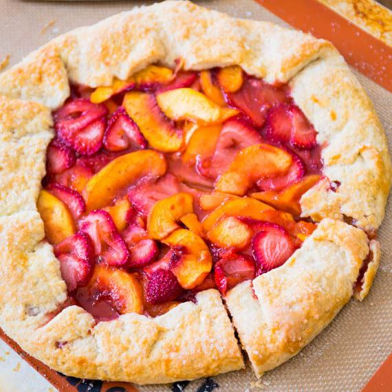Rustic Strawberry Peach Galette Recipe