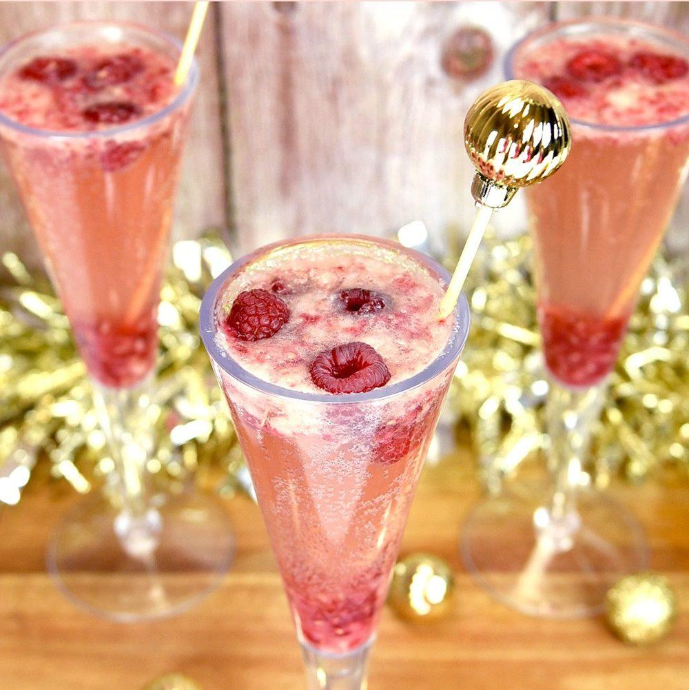 Sparkling Raspberry Pear Mocktail Recipe