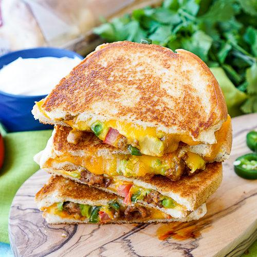 Taco Grilled Cheese Sandwich Recipe