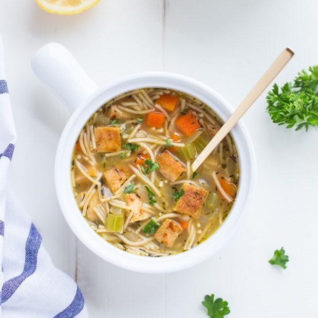 Tofu 'Chicken' Noodle Soup Recipe