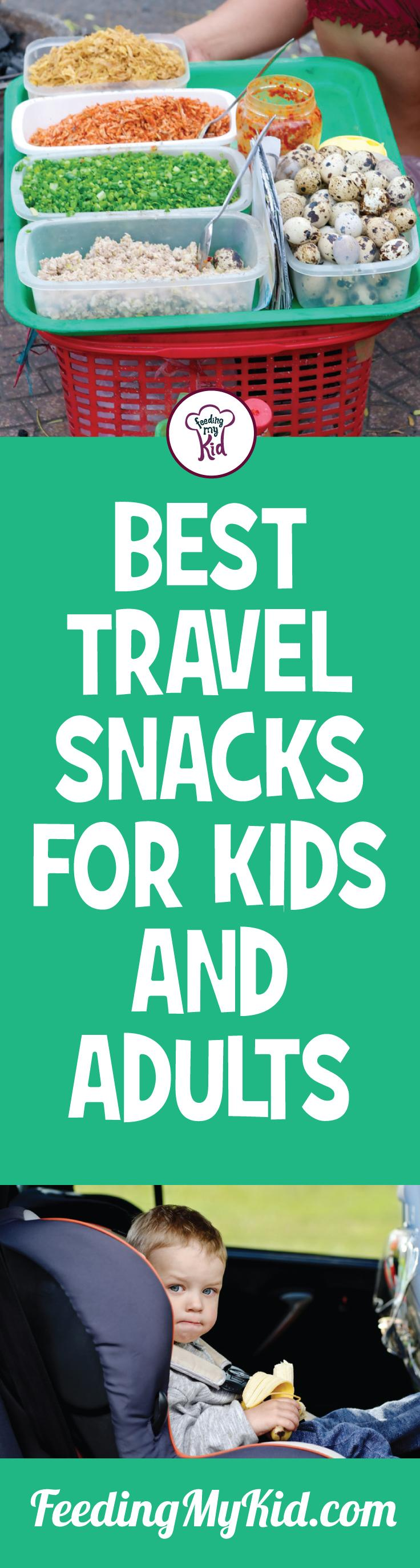 Going on an adventure with the family? Check out these travel food ideas in this great video! You'll learn just what snacks you should bring along with you. Feeding My Kid is a filled with all the information you need about how to raise your kids, from healthy tips to nutritious recipes. #FeedingMyKid #snacks #travelsnacks #travelfood