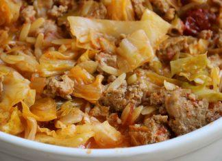 What an incredibly easy one-pot dish to serve! You'll friend and family will be so impressed. This Cabbage Turkey Casserole is absolutely delicious, easy to make and easy to clean up afterward. Looking for an easy to make casserole? #healthycasserole #turkeycasserole #cabbagecasserole