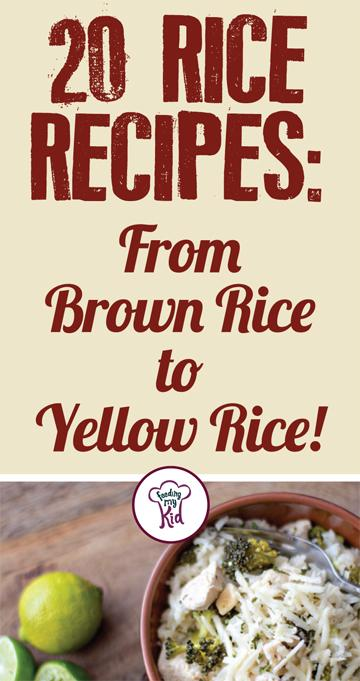 Try these amazing rice recipes! These recipes make the perfect meal or side dish for lunch or dinner! #FeedingMyKid #ricerecipes #recipes #dinner #sidedish