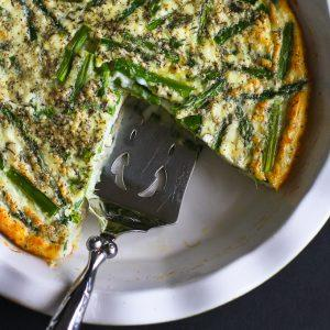 asparagus-and-feta-cheese-crustless-quiche-recipe