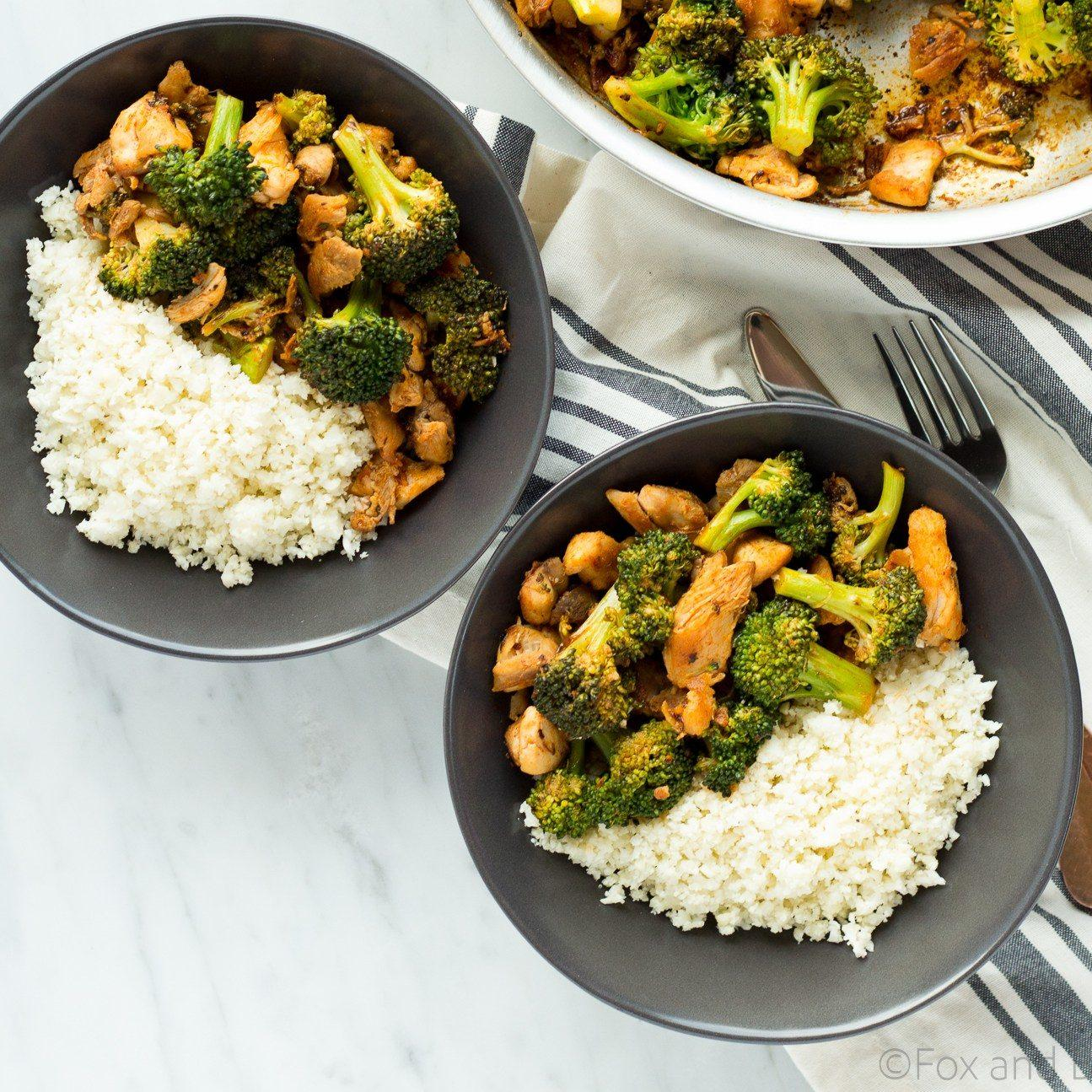 Buffalo Chicken And Broccoli Bowls Recipe