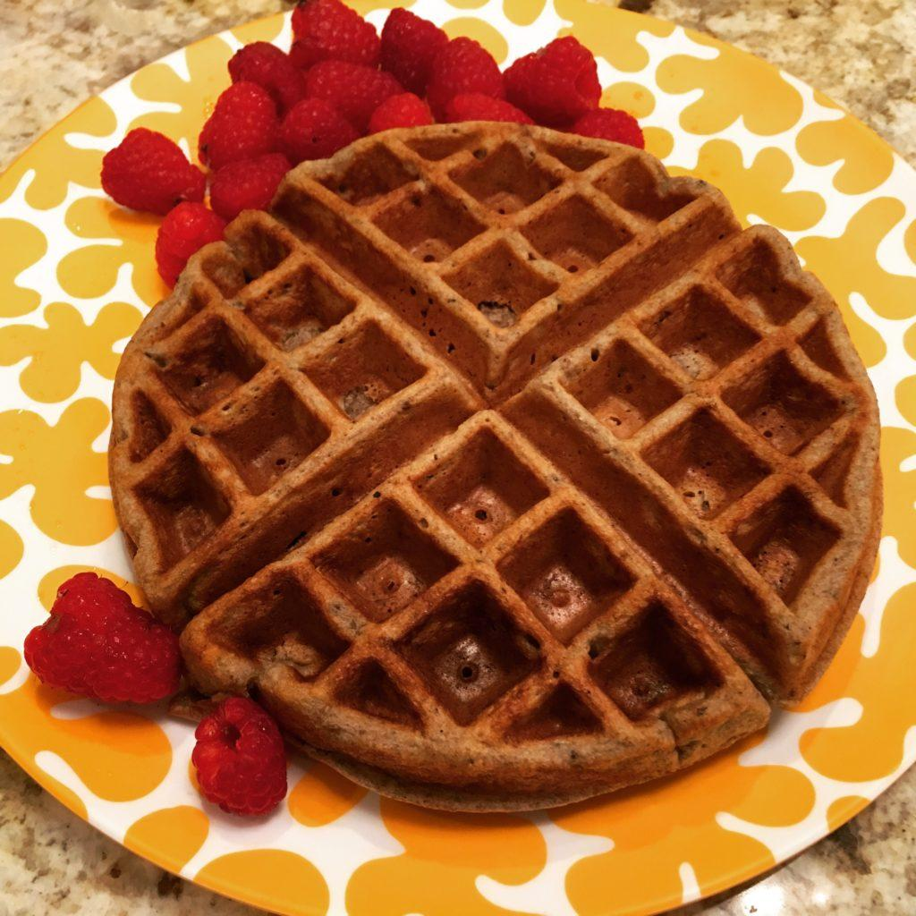 This high fiber waffle recipe is a wonderful way to start the morning! Loaded with healthy insoluble and soluble fiber, it's filling and delicious.