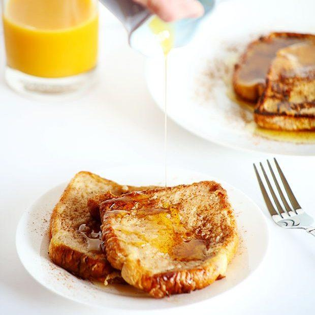 Healthy Vegan Cinnamon French Toast