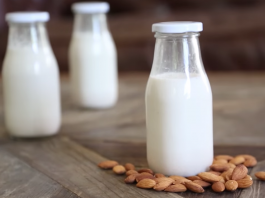 You won't believe how easy it is to make homemade almond milk! And, saves you money! Three easy steps and you have your very own almond milk.