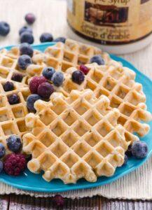 Healthy Waffle Recipe Full of Fiber. Great way to start your day!