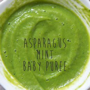 Asparagus and Mint Puree