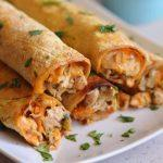 Baked Sausage, Spinach And Egg Breakfast Taquitos