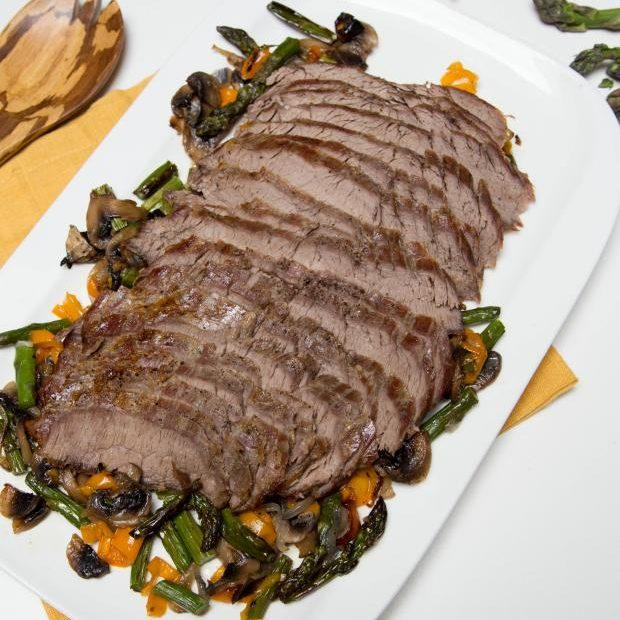 Baked Steak With Vegetables