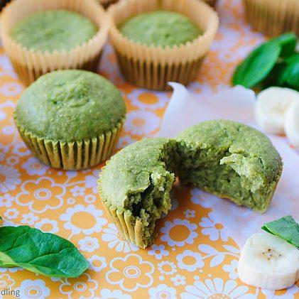 Banana, Spinach and Oat Blender Muffins