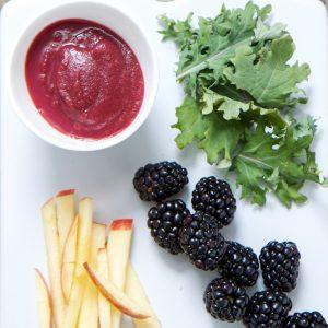 Blackberry Kale Apple Puree