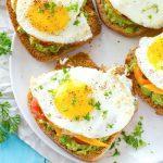California Style Fried Egg Avocado Toast