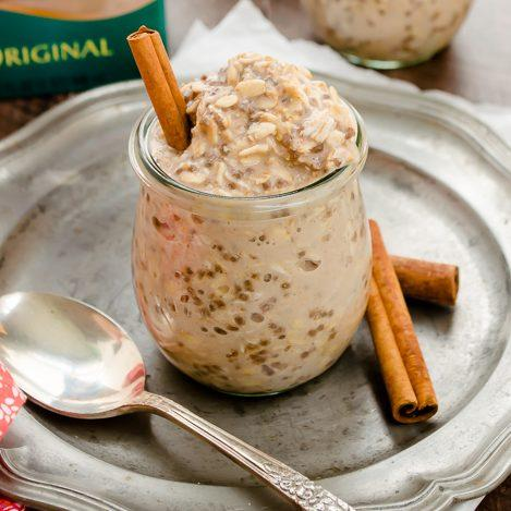 Chai Spiced Chia Overnight Oats