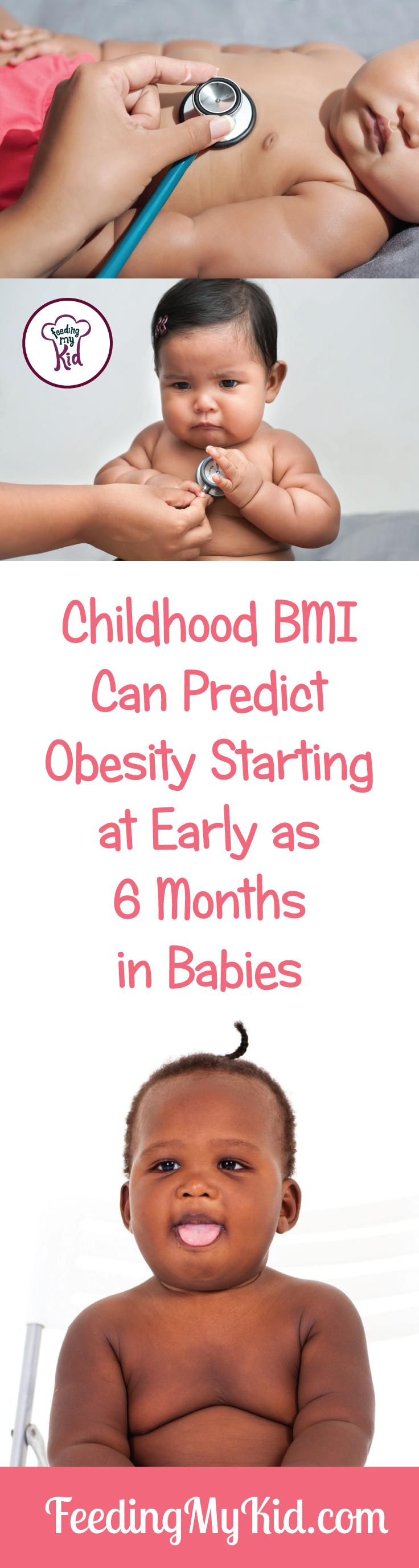Are you worried about an overweight baby? Studies show 85% BMI weight or higher in babies can predict obesity as early as 6 months old.