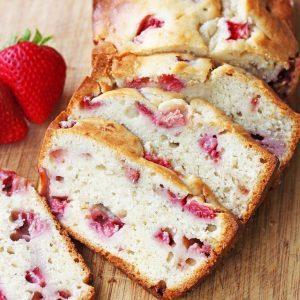 Cream Cheese Strawberry Banana Bread