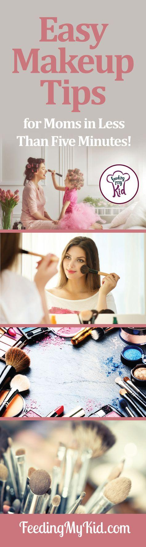 Easy makeup tricks. You'll be done with your makeup in less than five minutes. Moms will look and feel refreshed with these easy tips!