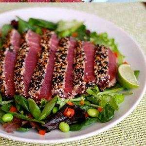 Grill Lovers' Spicy Sweet Savory Seared Ahi Tuna