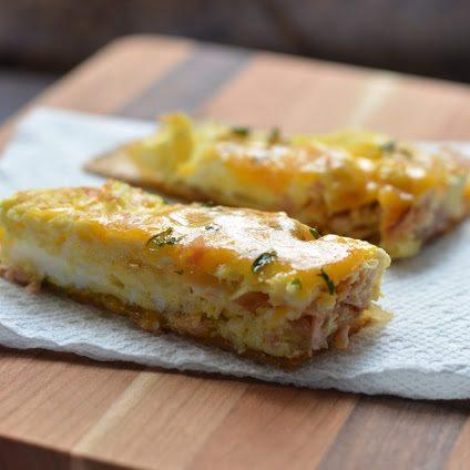 Ham And Cheese Omelet Sticks