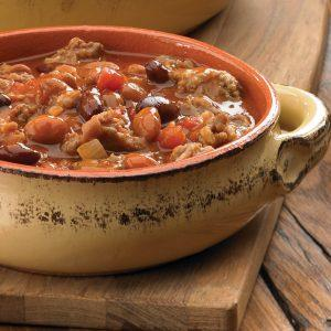 Hearty Two Bean Sausage Chili