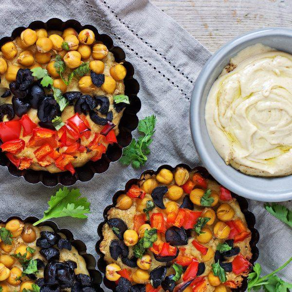 Hummus Pizza Tartlets