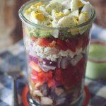 Layered Cobb Chicken Salad