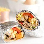 Light And Spicy Turkey Sausage Breakfast Burritos