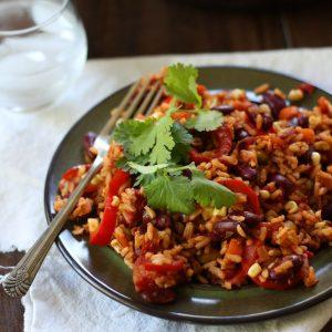 Mexican Kidney Bean Fried Rice