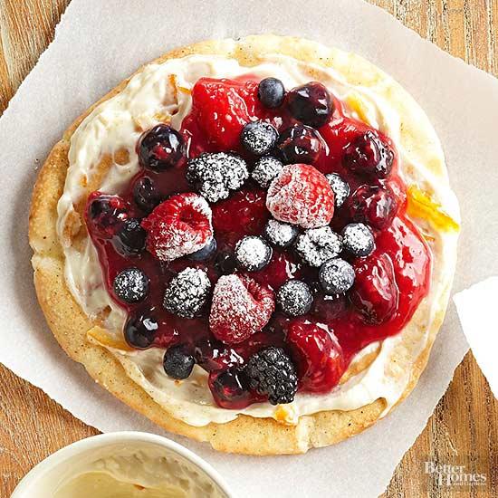 Mixed Berry Breakfast Pizza